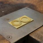Goldblech für trauringherstellung