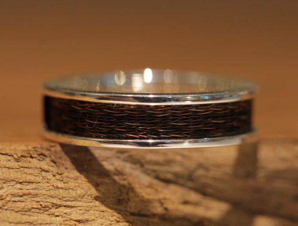 Ring Silber pferdehaar