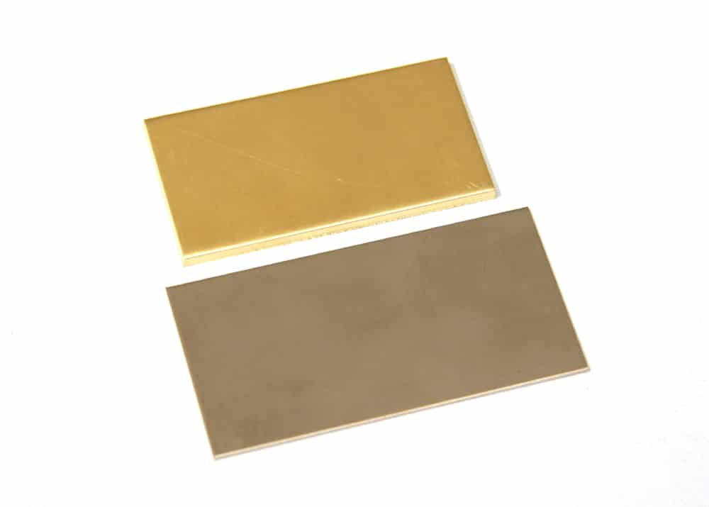 Gold sheets in gray and yellow gold