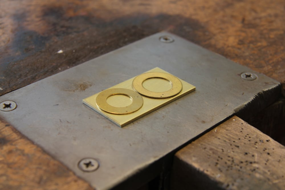 Gold sheet for wedding ring production