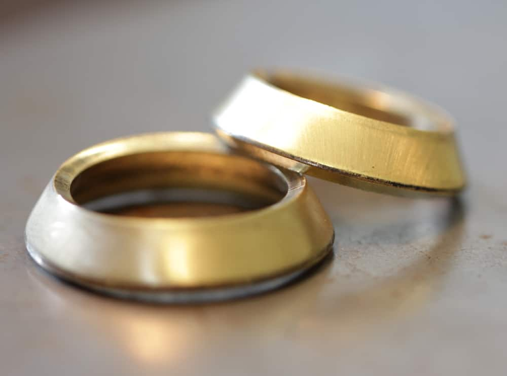 Finished everted rings when making wedding rings