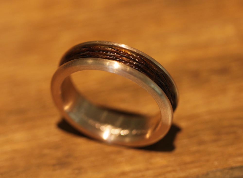 Schweifhaarring in gold