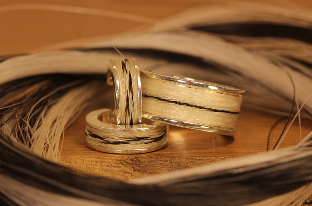 Horse hair jewelry 130