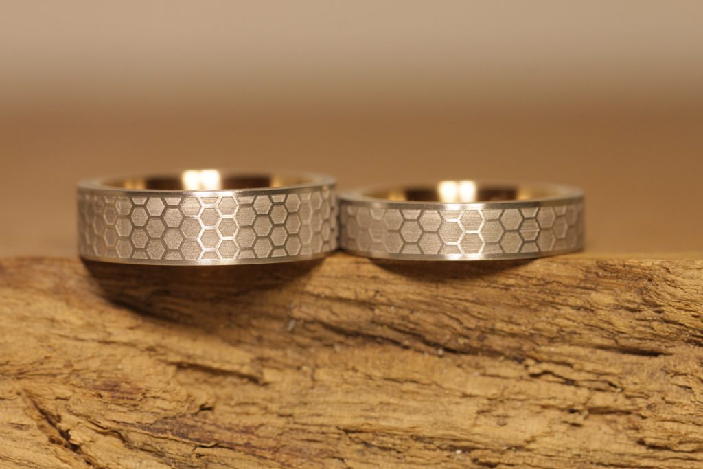 Image 188: individualized wedding rings with laser engraving from the jewelry garden.