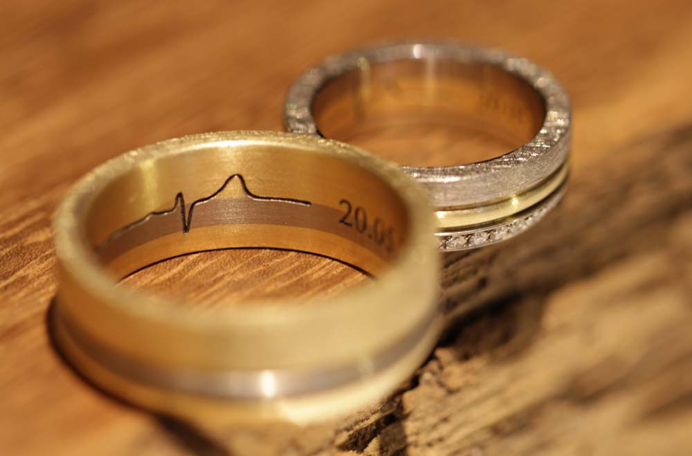 heartbeat line engraving wedding rings (3)