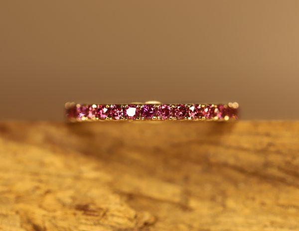 Ring Pinke Diamanten