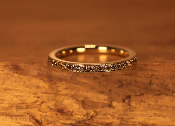 Braune Brillanten in gold Ring (1)