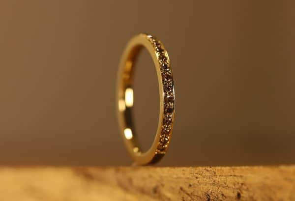 Braune Brillanten in gold Ring (2)