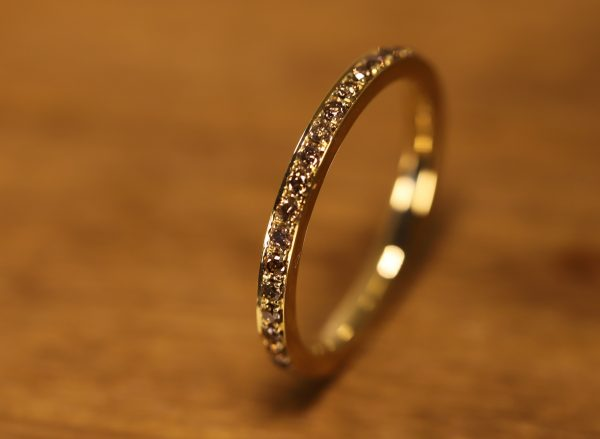 Braune Brillanten in gold Ring (3)