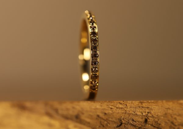 Braune Brillanten in gold Ring (4)