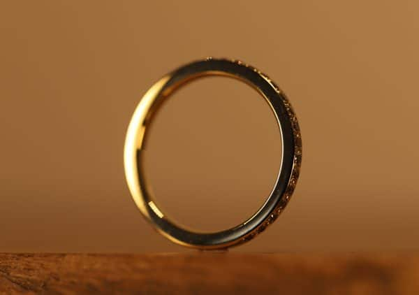 Braune Brillanten in gold Ring (5)