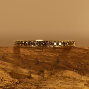 Braune Brillanten in gold Ring (7)