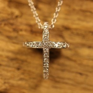 White gold cross with diamonds (3)